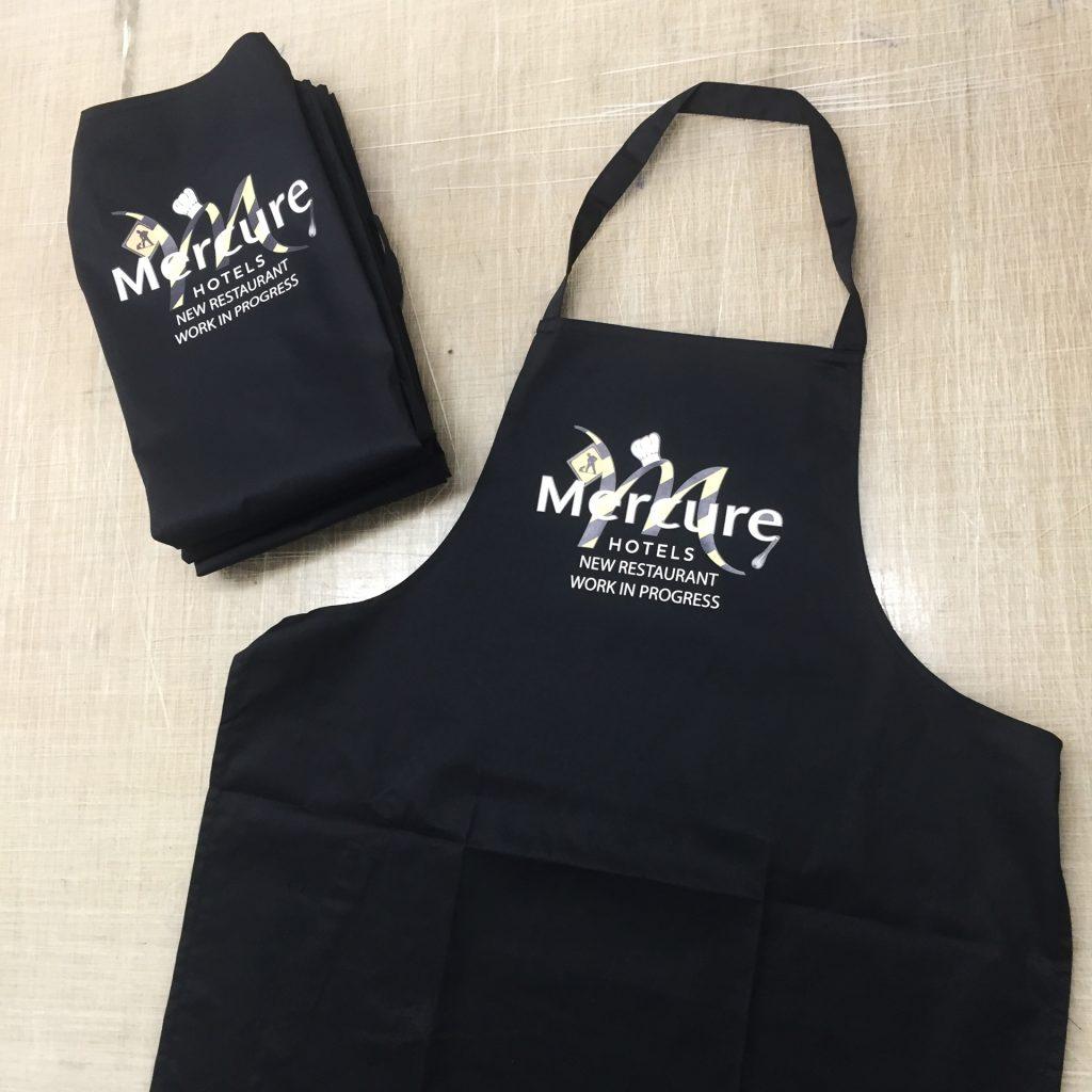 Flocage tablier Mercure Bratex