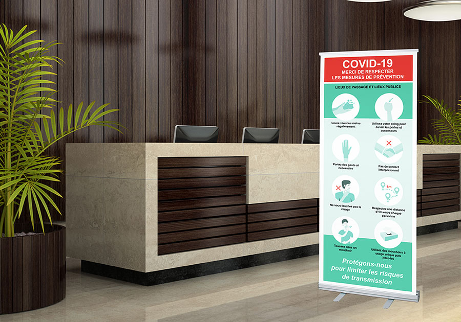 Roll-up spécial covid 19