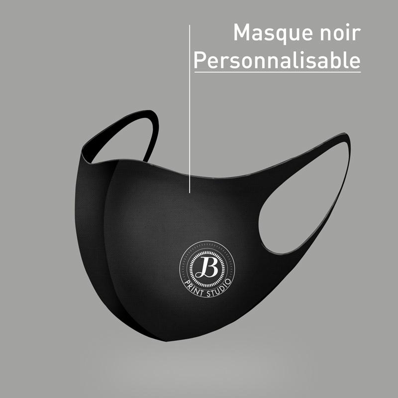 Masque noir personnalisable
