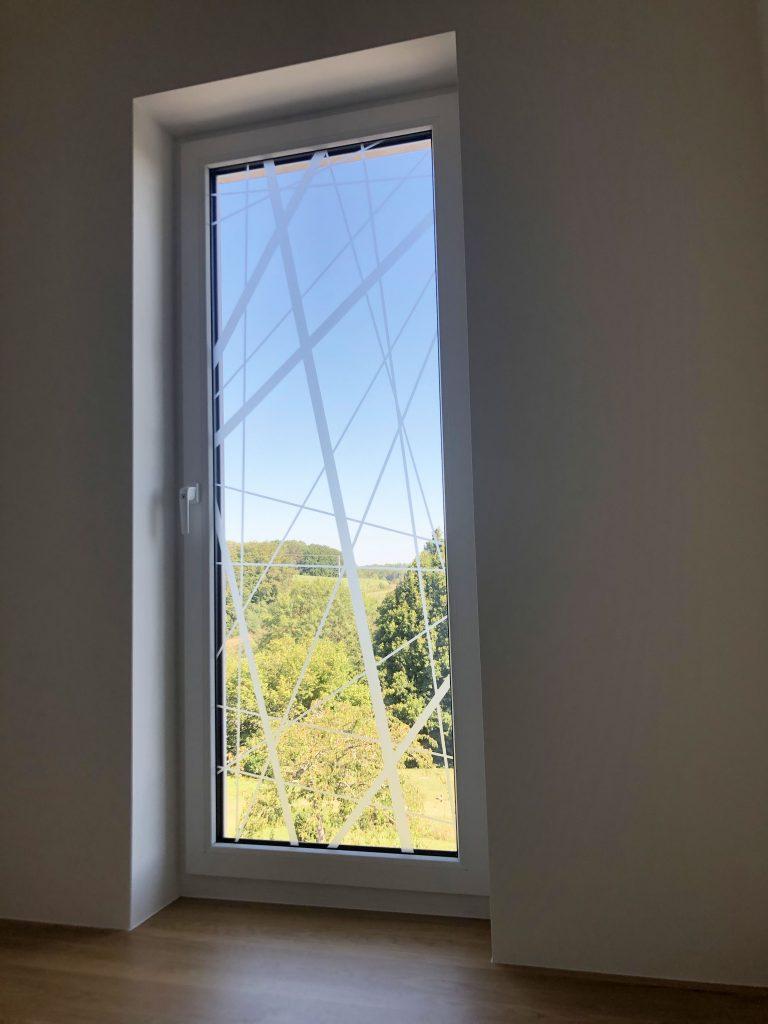 Décoration Vinyle sable fenêtre